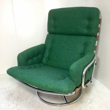 Zitschik buisframe fauteuil groen for Fauteuil groen