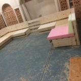 lounge hoek in aanbouw